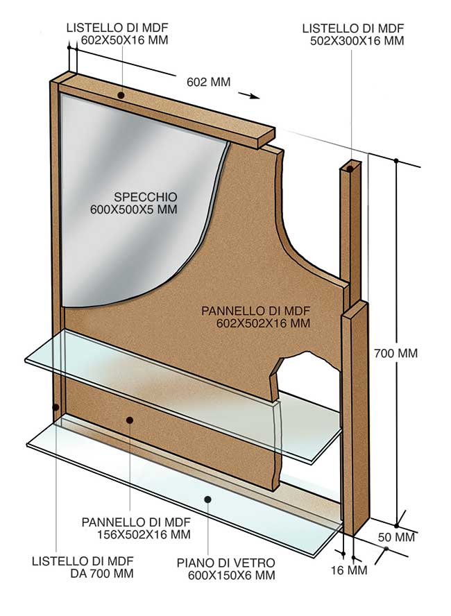Specchi fai da te 4 costruzioni illustrate for Costruire tartarughiera in vetro