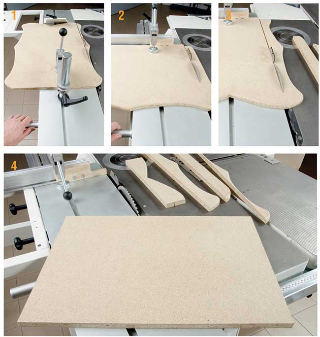 squadrare il legno con la combinata