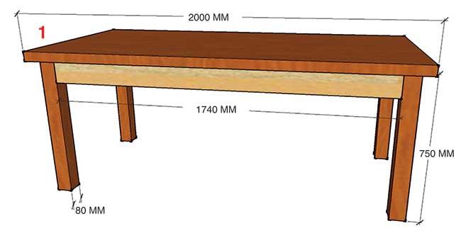 Costruire Un Tavolo Rustico In Legno.Tavolo Taverna Fai Da Te Costruzione Illustrata Passo