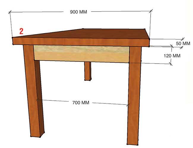 Tavolo taverna fai da te costruzione illustrata passo - Tavoli rustici fai da te ...