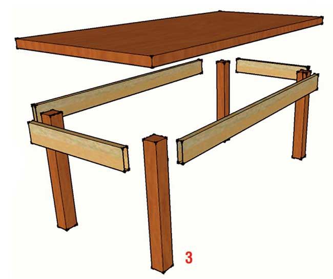 Tavolo taverna fai da te costruzione illustrata passo for Piani domestici di 2000 piedi quadrati