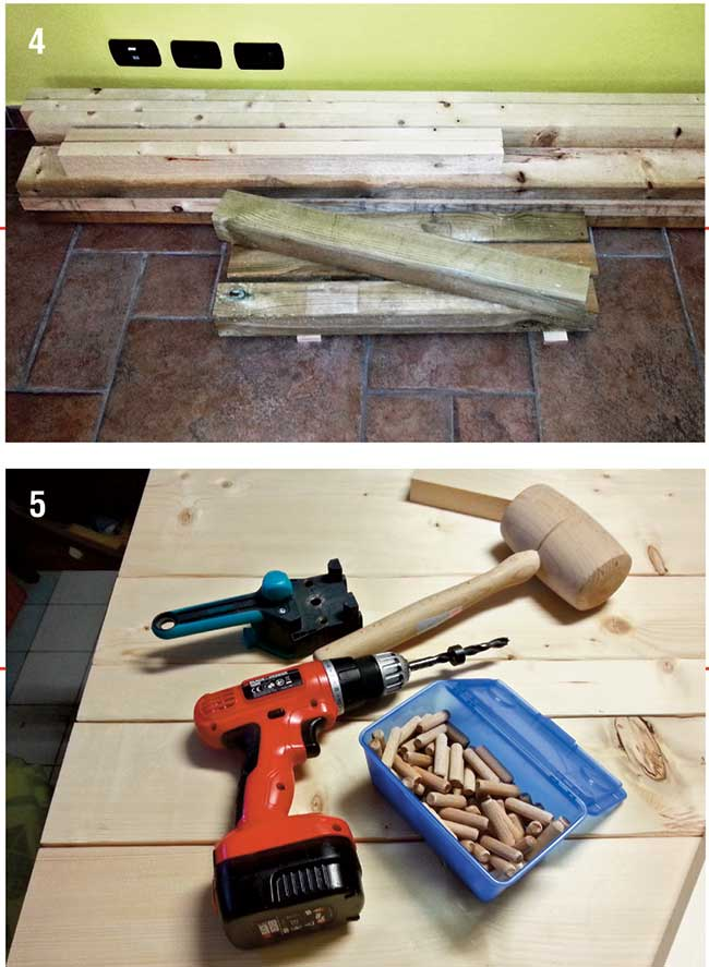spine di legno