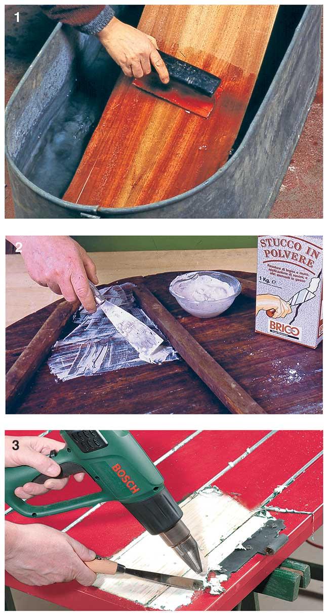 pulire il legno