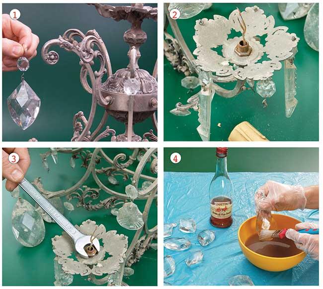 Come pulire un lampadario 1