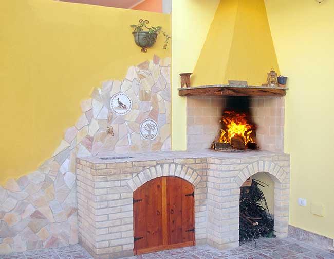 Angolo cottura in muratura fai da te 25 passaggi illustrati - Angolo barbecue in giardino ...