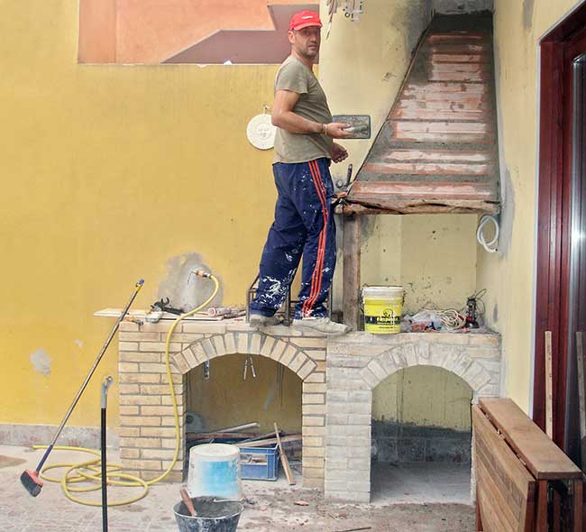 Angolo cottura in muratura fai da te 25 passaggi illustrati - Cucina in muratura fai da te ...