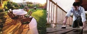 Come trattare gli arredi e pavimenti esterni in legno