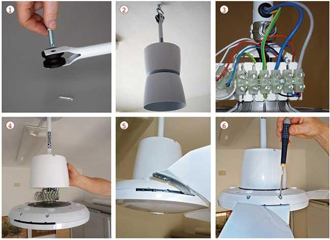 Schema Elettrico Ventilatore A Soffitto Vortice : Come installare un ventilatore da soffitto in modo corretto