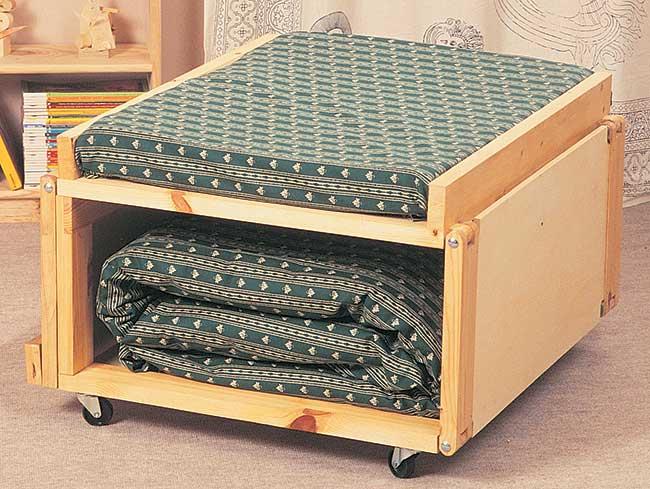 Pouf letto fai da te in legno 13 foto descritte passo passo - Costruire un mobile in legno ...