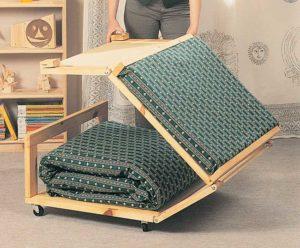 Pouf letto fai da te in legno | 13 foto descritte passo-passo
