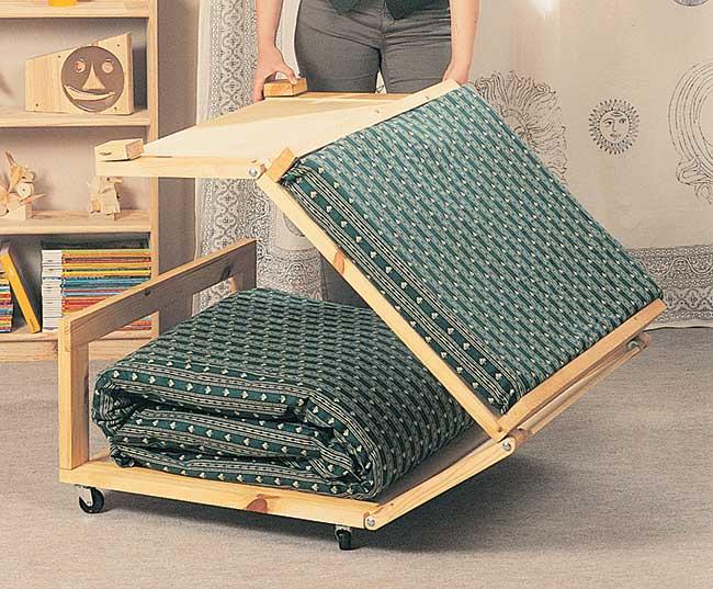 Famoso Pouf letto fai da te in legno | 13 foto descritte passo-passo OB61