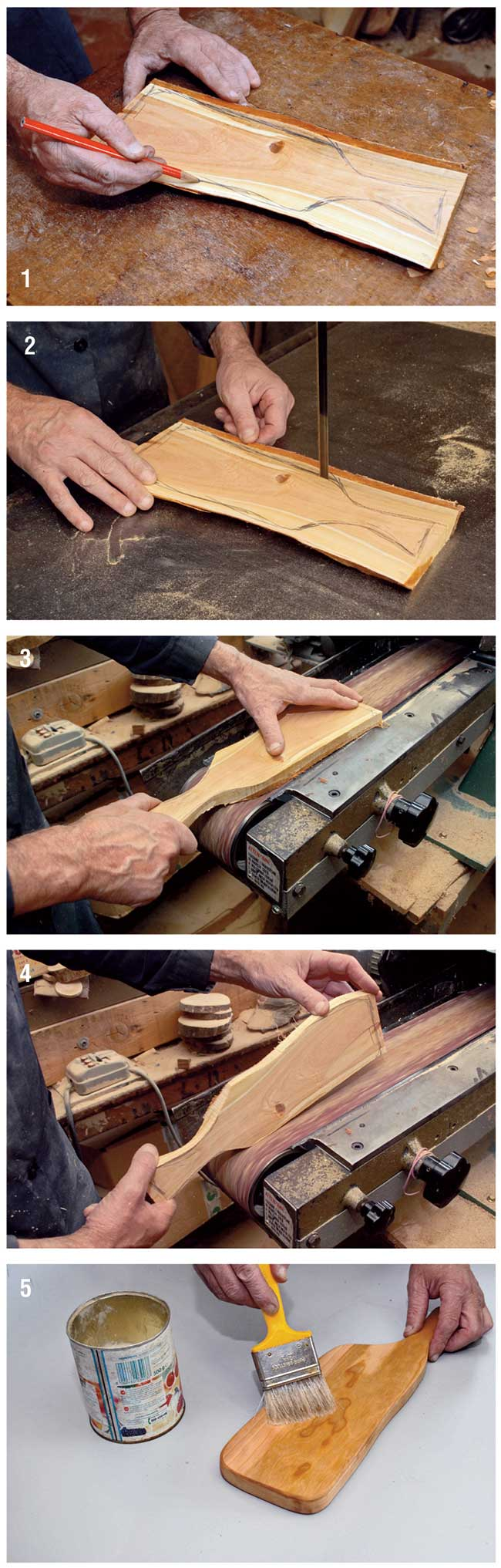 Realizzare un tagliere di legno