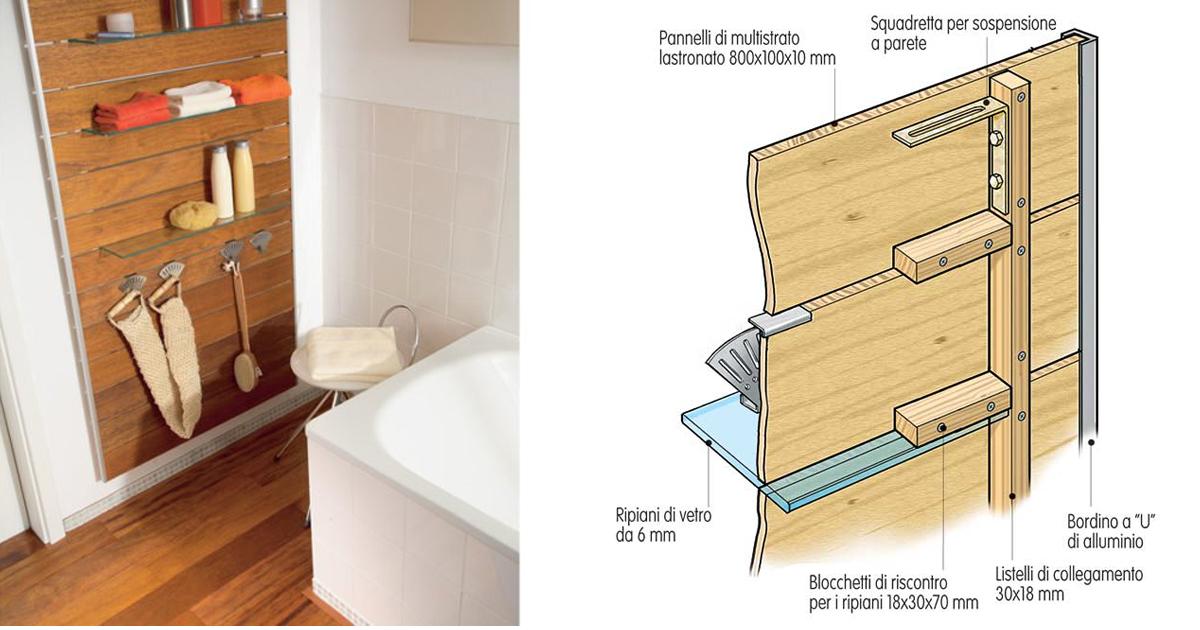 Pannello mensola fai da te per il bagno - Costruire un mobiletto per il bagno ...
