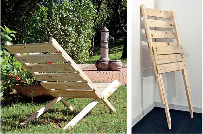 Sedia con pallet costruzione fai da te utilizzando i bancali for Lavori con bancali