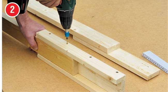 fissaggio listello in legno