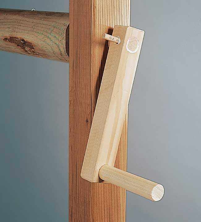 mangano di legno