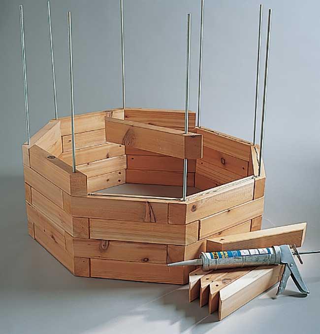 Pozzo finto fai da te in legno guida alla costruzione for Idee per realizzare una fioriera