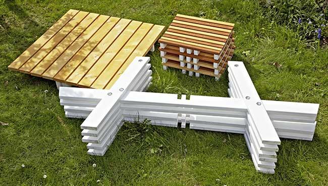 Tavolo da esterno fai da te | Come costruirlo in 24 passaggi