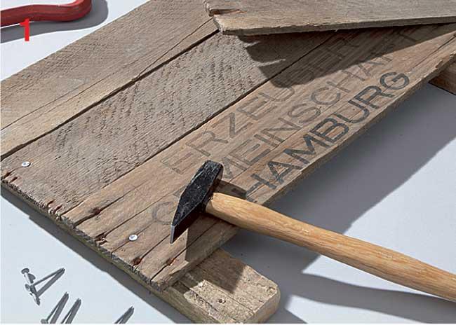 cornice in legno fai da te con conchiglie