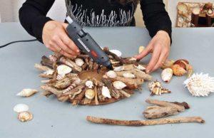Cornice marinara con conchiglie | Come realizzarla fai da te