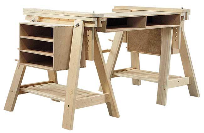 Bancone In Legno Ikea : Come costruire un banco da lavoro utilizzando componenti ikea