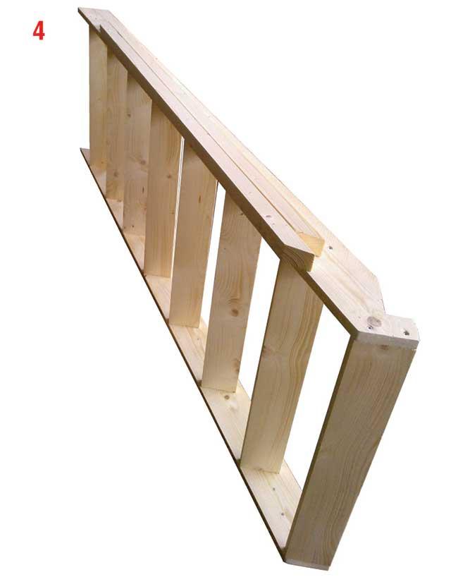 scaletta di legno