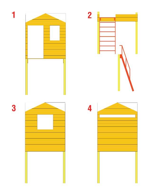 Come costruire una palafitta in legno per bambini for Come progettare una casa da costruire