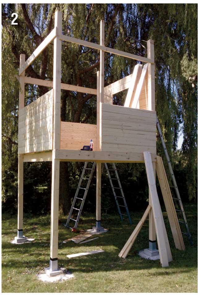 Come costruire una palafitta in legno per bambini - Costruire una casetta ...