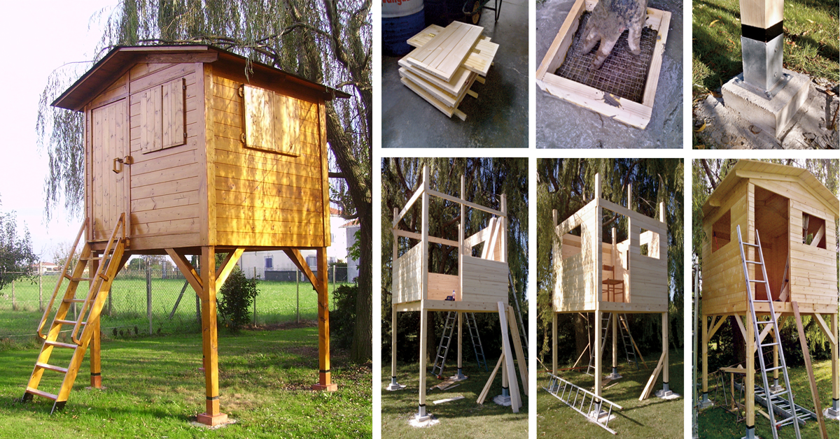 Come costruire una palafitta in legno per bambini for Casa legno bambini