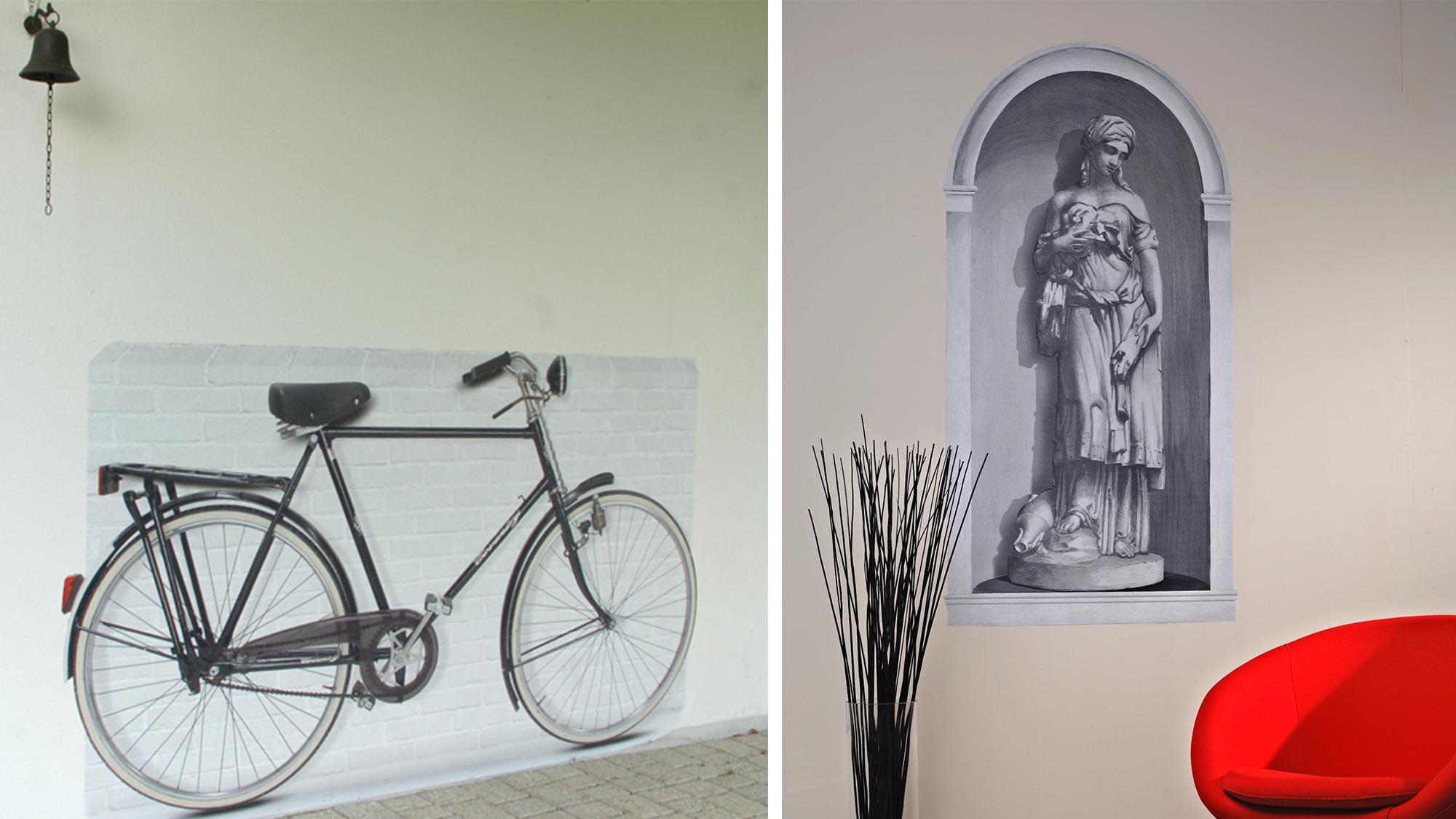 Trompe l'oeil adesivi murali | Caratteristiche e applicazione