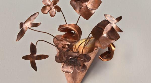 Lampade Rustiche In Rame : Lampada fai da te con fiori di rame bricoportale fai da te e