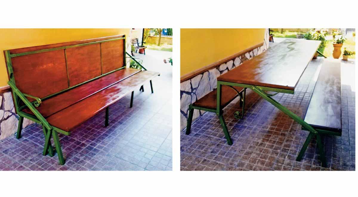 Panca trasformabile in tavolo (e anche in letto) fai da te