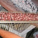 Telaio barbecue per spiedini ordinati