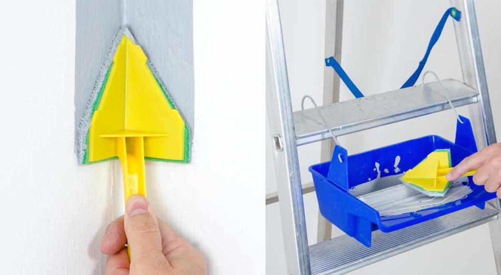 Come tinteggiare bene nei punti difficili come angoli - Tinteggiare casa ...