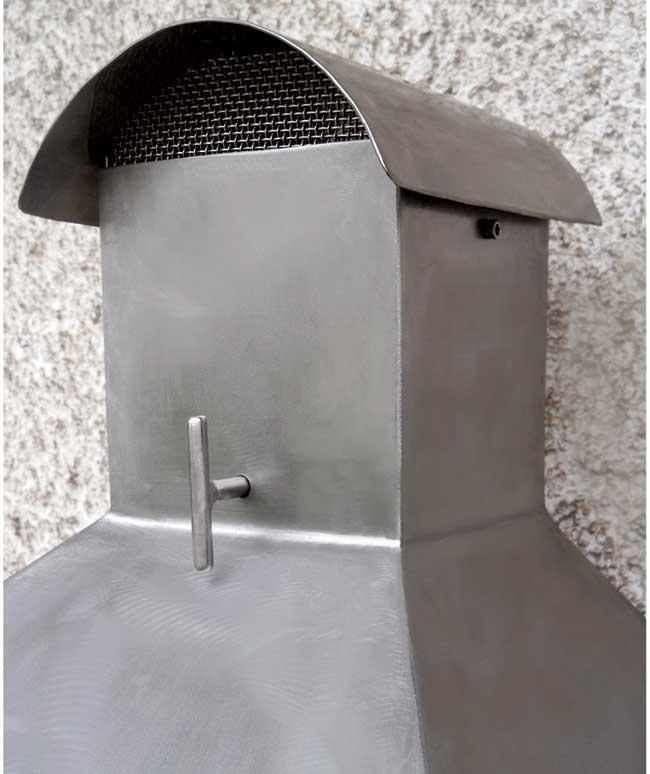 cappa barbecue acciaio inox