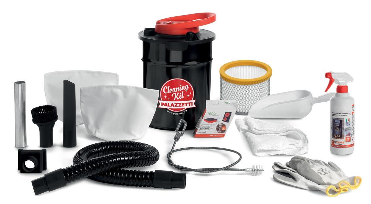 Kit pulizia stufa palazzetti per stufe a pellet e caminetti for Stufe a pellet moderne palazzetti