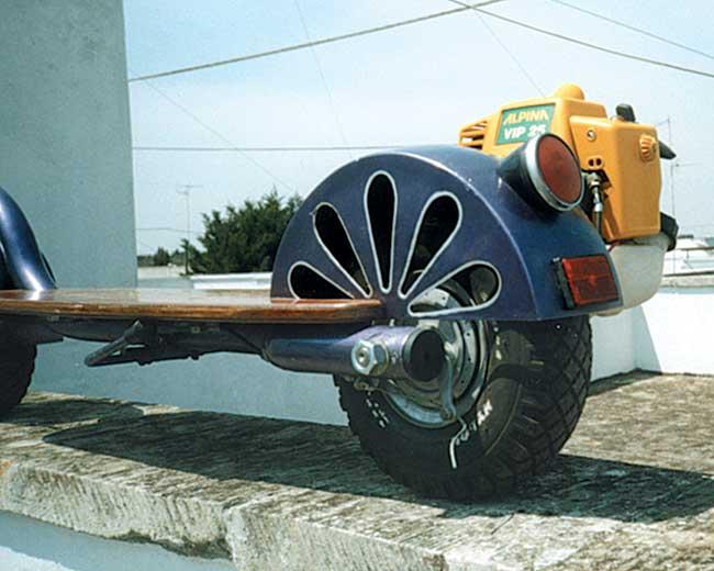 ruota monopattino a motore