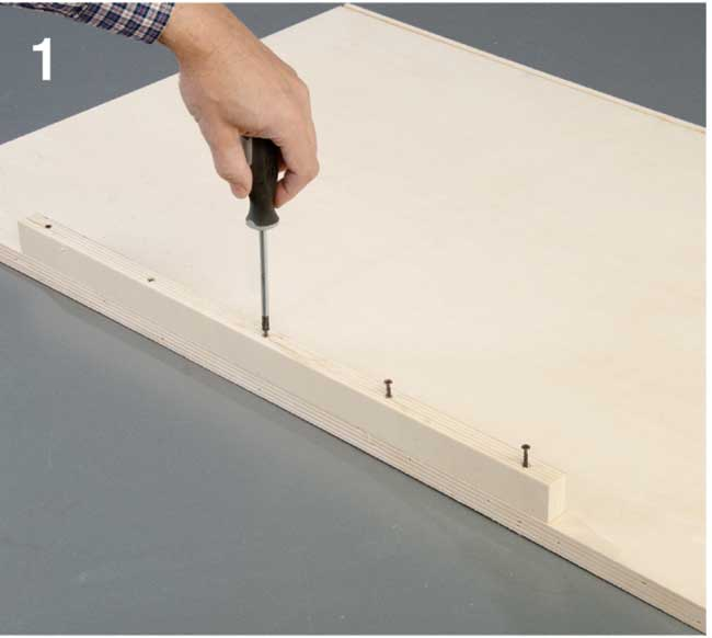 costruzione tavola per impastare in legno