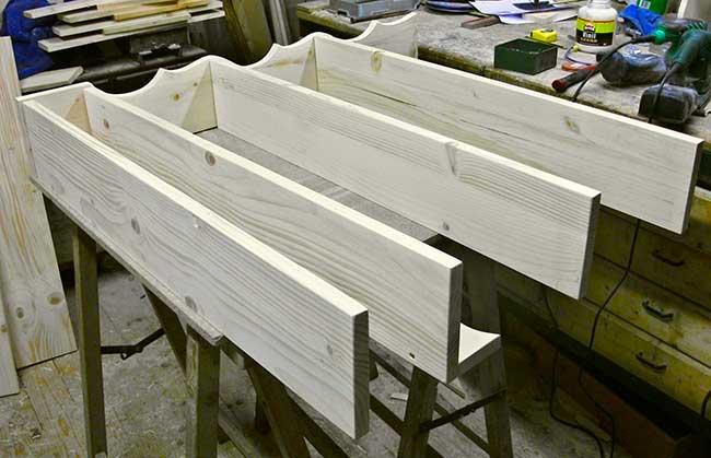 ripiani piattaia in legno