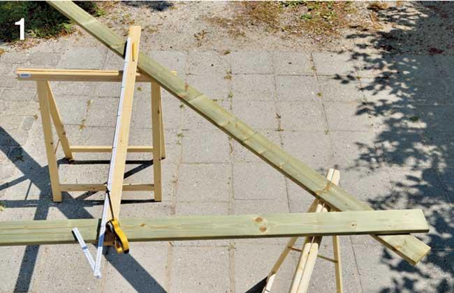 tacciatura di taglio per montanti tetto
