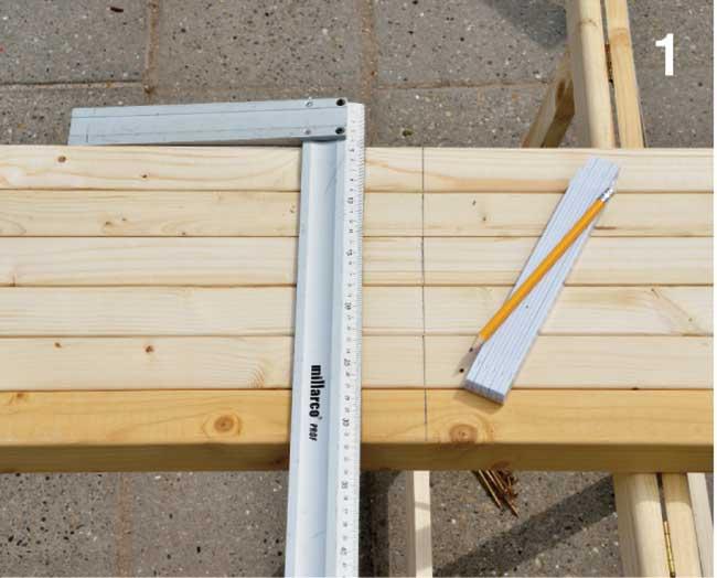 tracciatura ingobri su listelli di legno