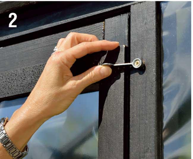 maniglia rotante per porta