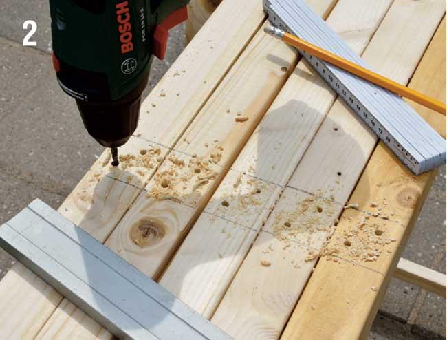 foratura listelli in legno