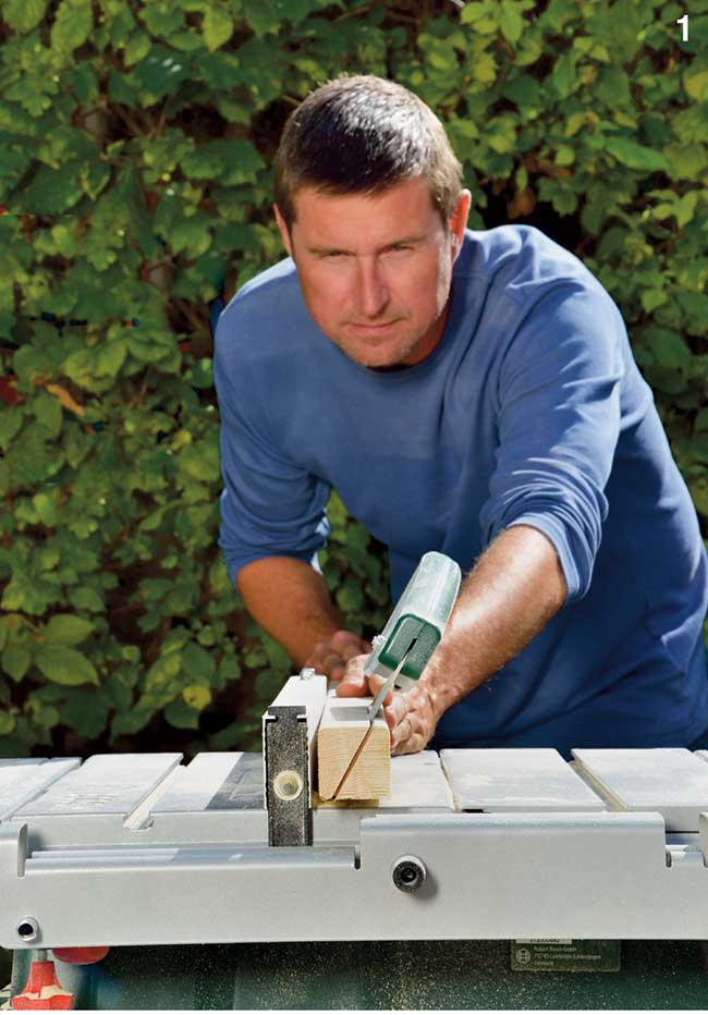taglio angolare stecche in legno