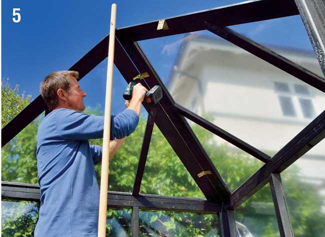 chiusura tetto con cerniere a libro