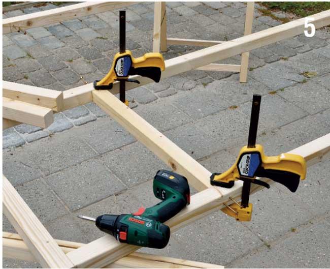 installazione traversi di legno