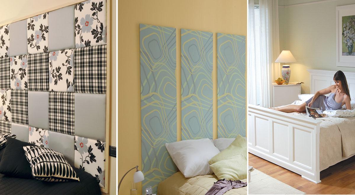Testiera letto fai da te 8 soluzioni diverse in 94 foto - Cuscini imbottiti per testiera letto ...