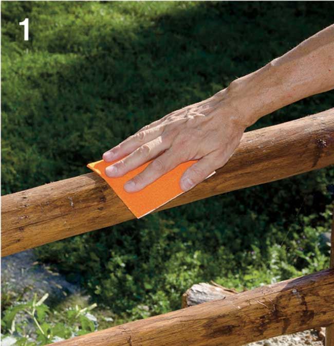 levigatura manuale del legno
