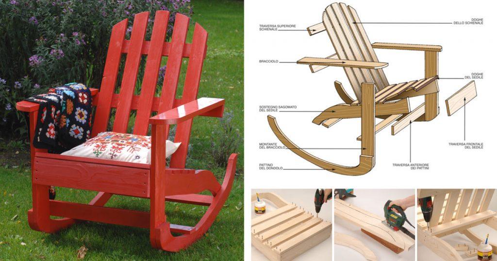 Costruire una sedia a dondolo in legno bricoportale fai for Decorare sedia legno