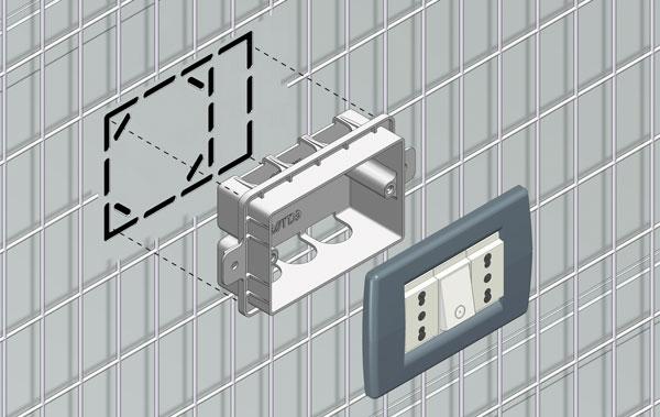 Controtelai predisposti per impianti elettrici cartongesso